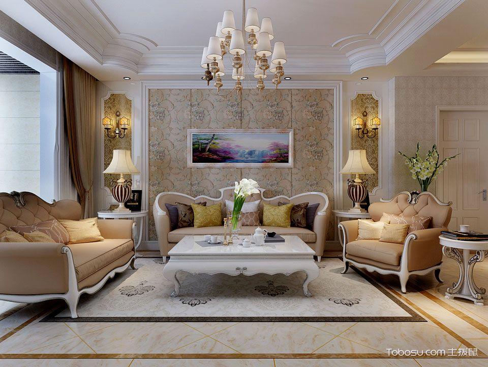 简欧风格装修案例沙发背景墙图片