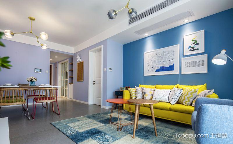 105平北欧装修风格效果图,多彩家居让生活更美好