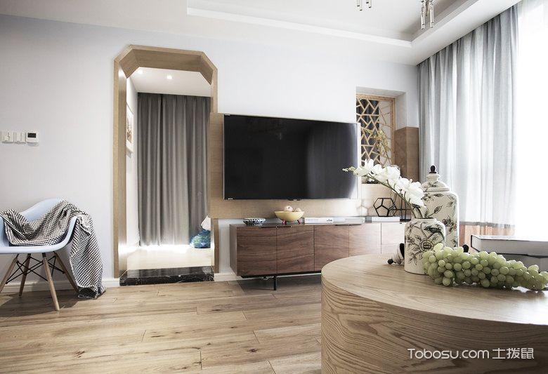 98平米小复式装修样板间_客厅地板