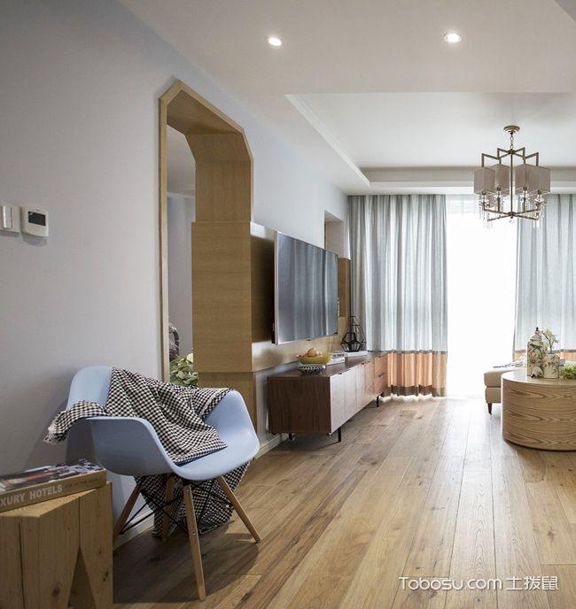 98平米小复式装修样板间_木质家具