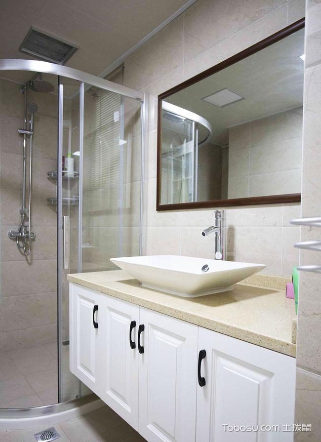 98平米小复式装修样板间_简洁卫生间