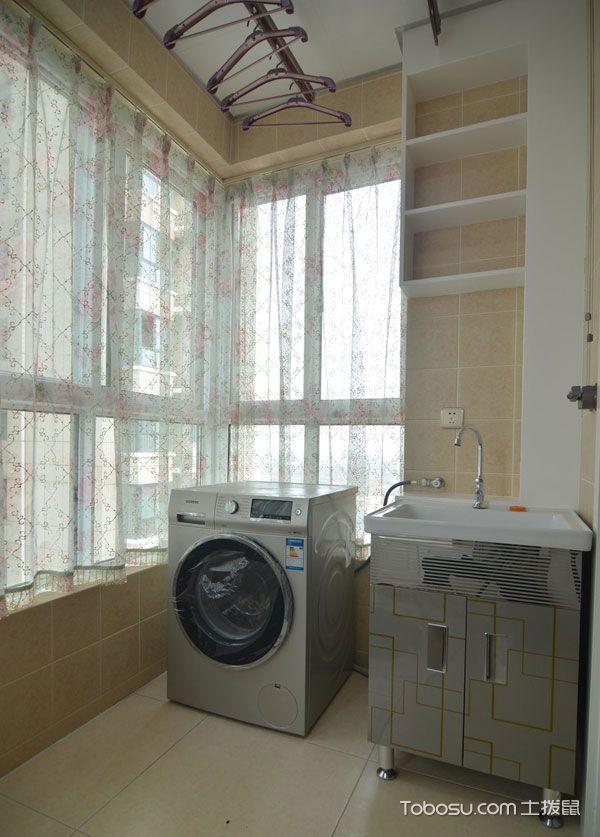 生活阳台洗衣机装修效果图