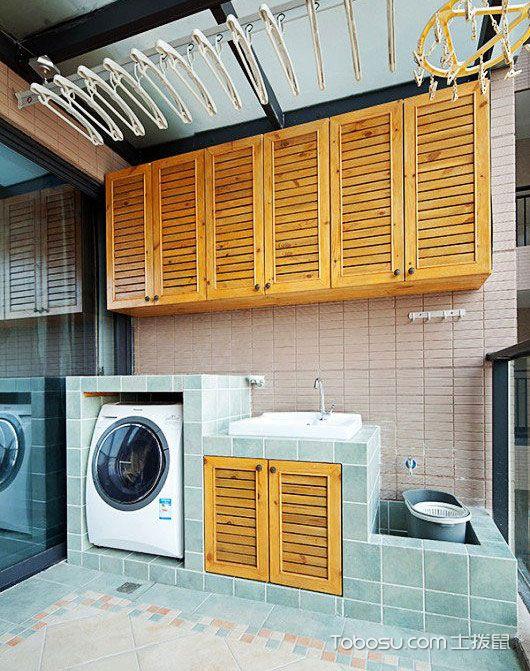 实用阳台洗衣机装修效果图