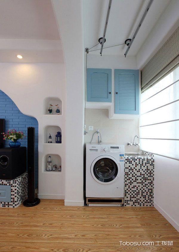 地中海阳台洗衣机装修效果图