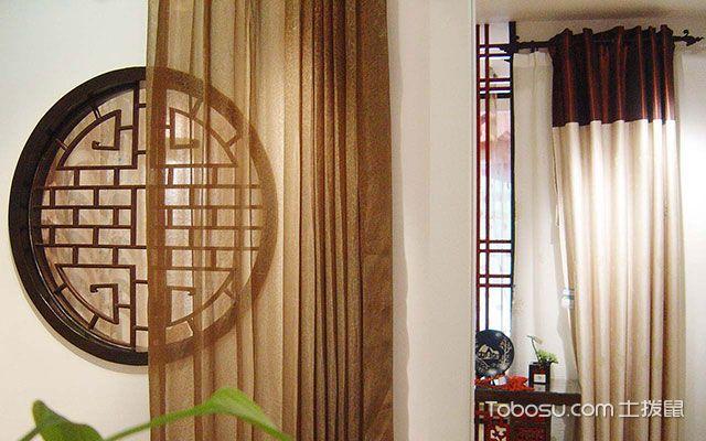 窗帘杆安装效果图