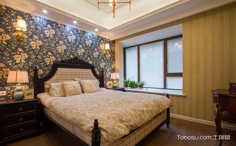 卧室壁纸装修效果图,墙面穿上美丽衣裳