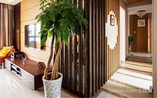 中式风格植物装饰