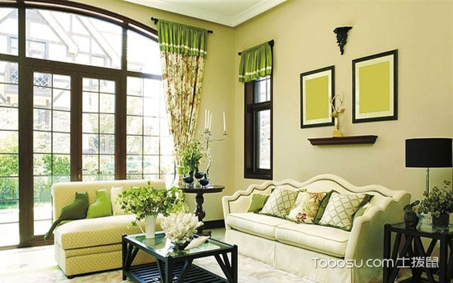 客厅绿植布置