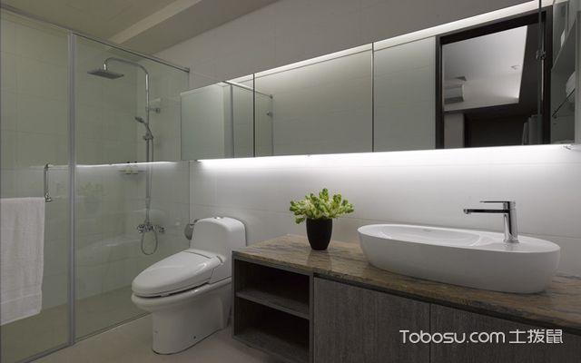 卫浴间绿植布置