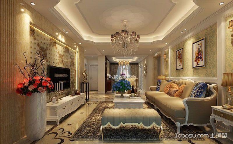 120平米简欧风格三居室装修效果图,梦想改造家