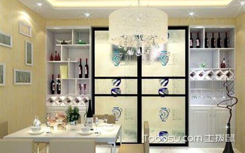 厨房与餐厅隔断酒柜设计效果图,实用又有格调