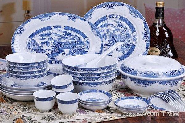 青花瓷中式餐具效果图鉴赏