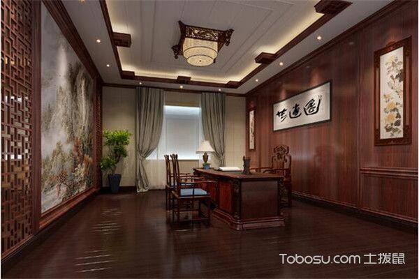 中式书房集成墙面装修图片