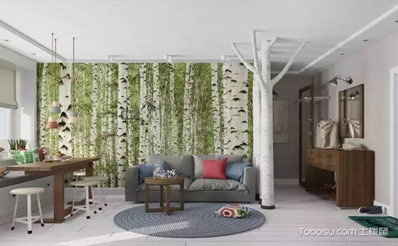 90平现代三居室装修效果图,打造零帕自然系美家