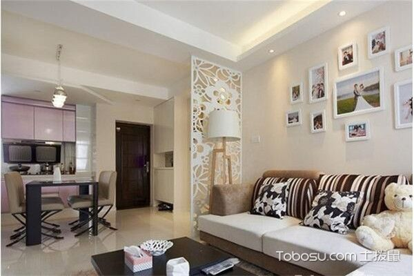 90平米小三房简约客厅装修图