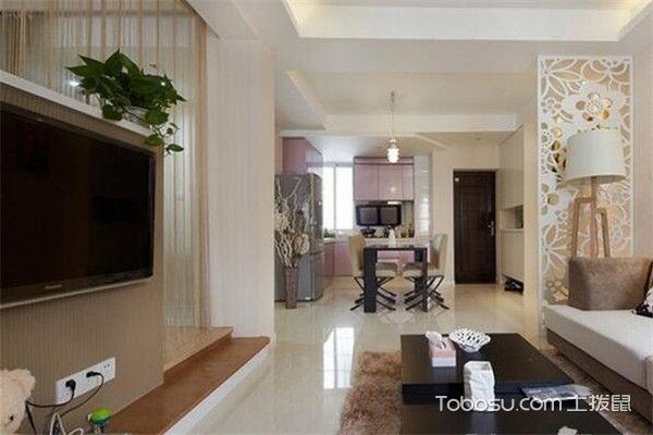 90平米小三房客厅背景墙装修图