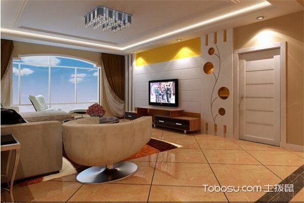 90平米小三房时尚客厅装修图