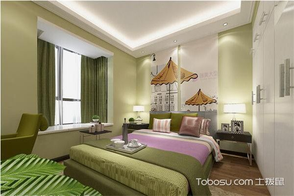 90平米小三房主题卧室装修图