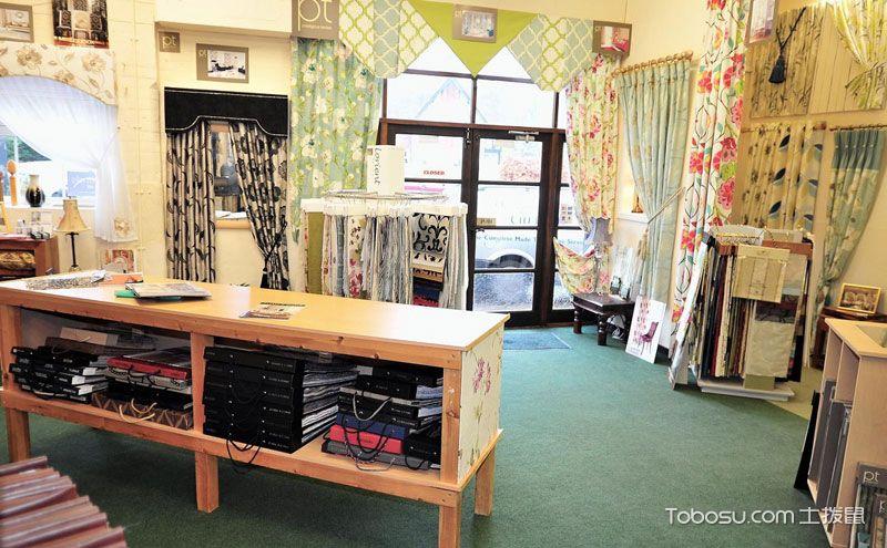 窗帘店面装修设计图,用布艺创造时尚