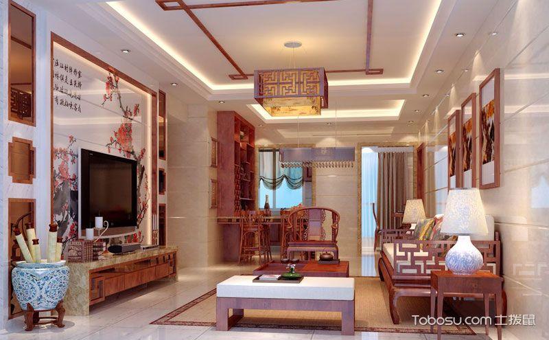 客厅吊顶装修效果图,创造与众不同的顶部空间图片