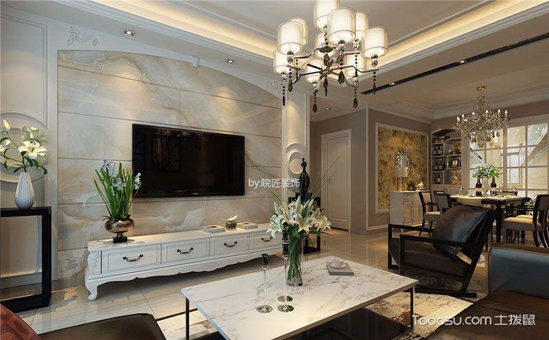简欧客厅背景墙效果图,时尚靓丽有层次!