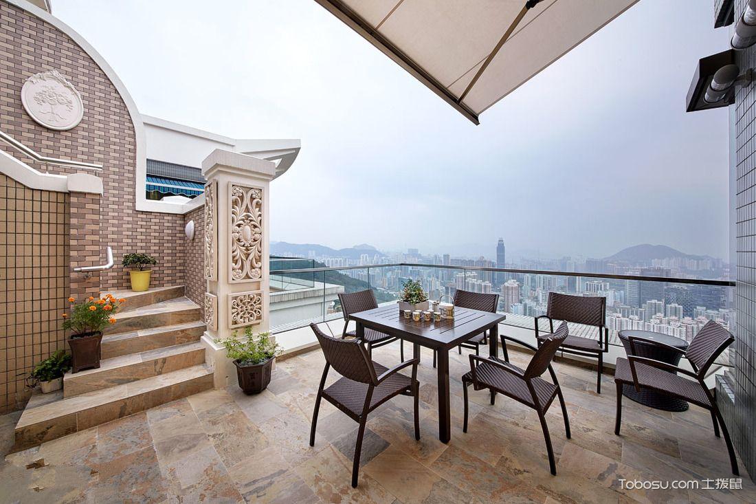顶层阳光别墅露台装修效果图