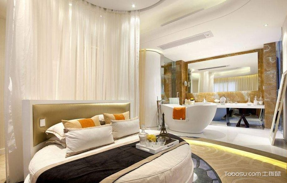 卧室浴室装修设计效果图,一个空间的百种享受图片