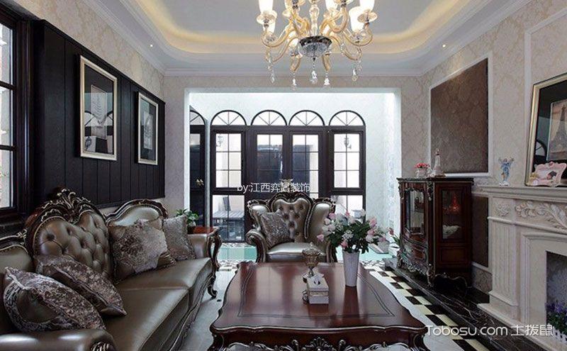 欧式家装样板房效果图,用古典奢华演绎时尚图片