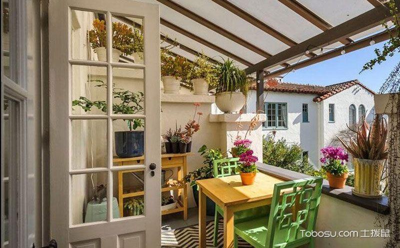 阳台花架图片,让自然的味道深入生活