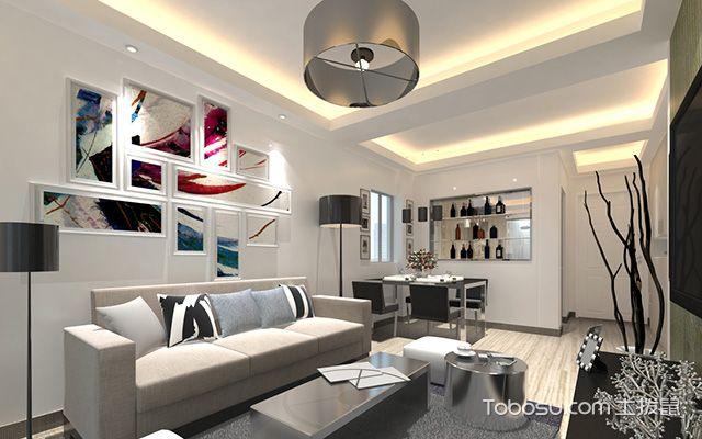 小户型客厅吊顶造型图,有限空间玩出无限花样图片