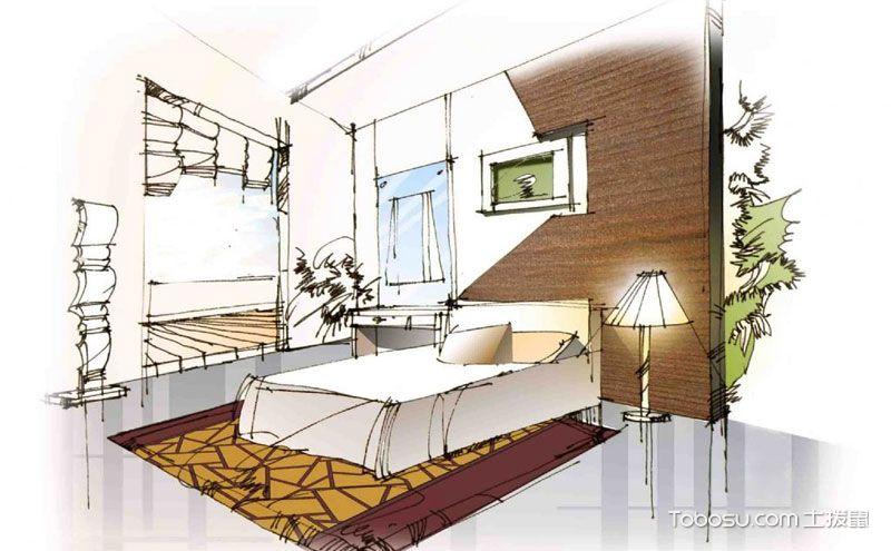 室内装修手绘图,简单线条绘出的理想居所
