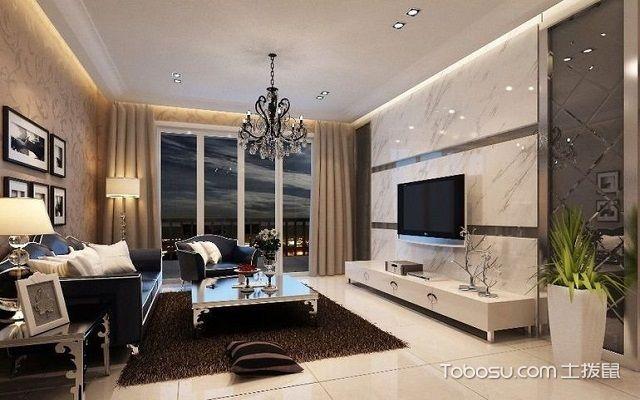 80平米客厅装修效果图