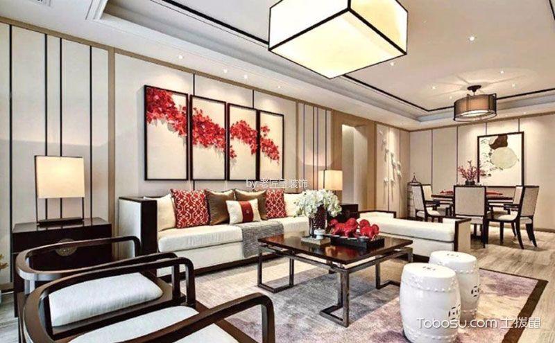 中式客厅灯饰效果图,古典之美照进现代艺术