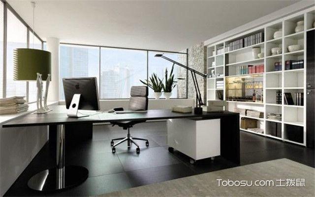 80平米办公室效果图