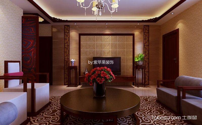 中式三室一厅装修效果图,端庄典雅的大家风范