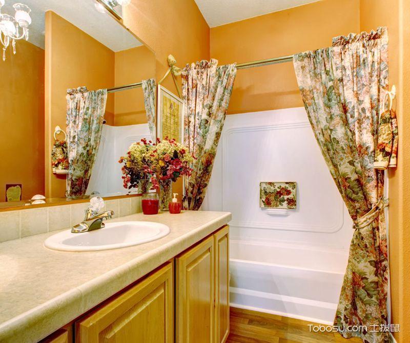 浴室浴帘装修设计,隔断装饰两不误-土拔鼠装修效果图