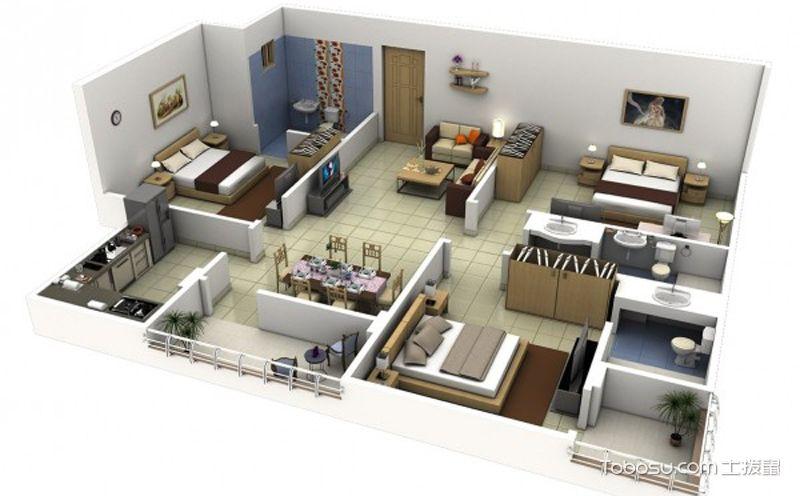 最合理的三居室户型图,实现空间利用最大化