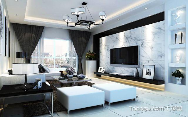 客厅贴墙砖效果图