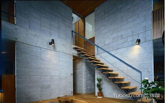 复式loft装修原木楼梯效果图