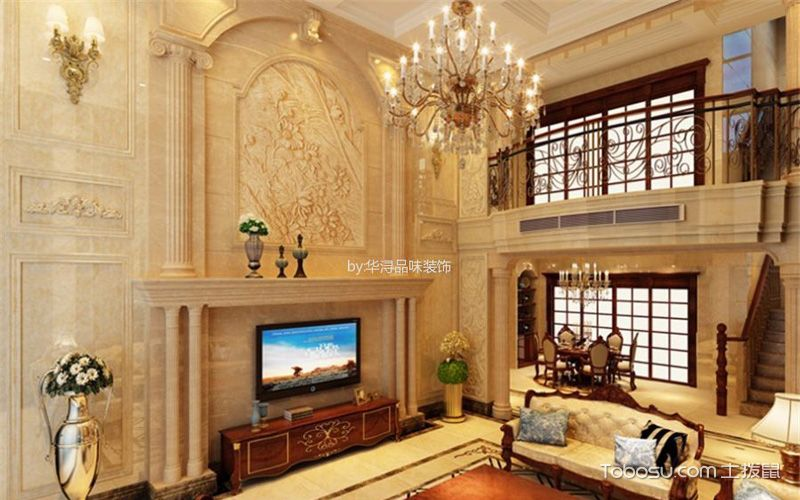 欧式客厅背景墙效果图,多变墙面你能降得住吗