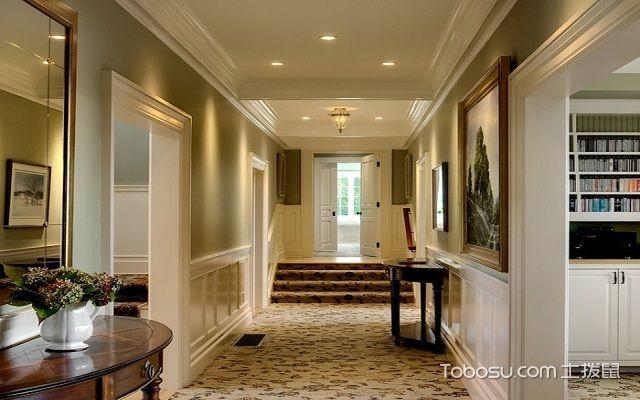 走廊过道照明设计筒灯效果图