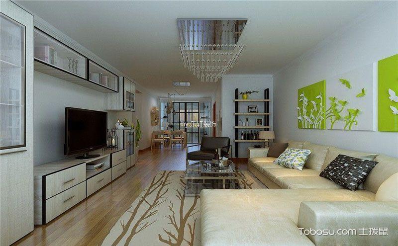 现代三房两厅装修效果图,纯白色简约风