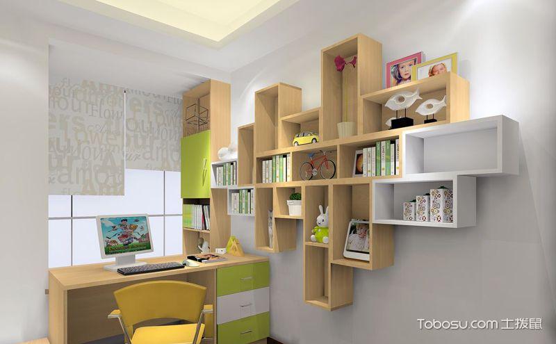 小书房墙上置物架效果图