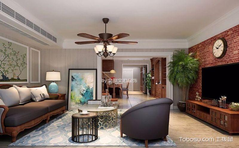80平米复式装修样板房,绽放小美式的迷人魅力