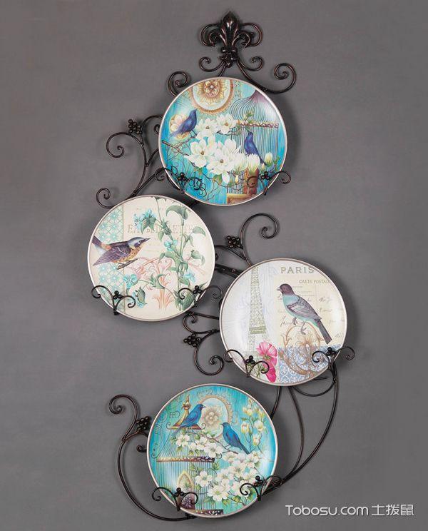 墙上陶瓷装饰品图片