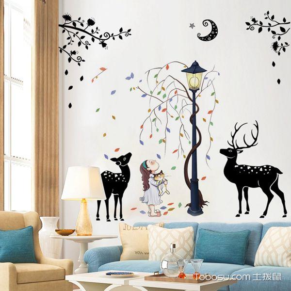 墙上彩绘装饰图片
