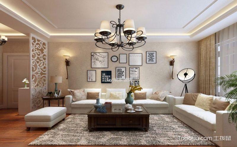 三室两厅一卫装修效果图,质朴沉稳的现代简约之家