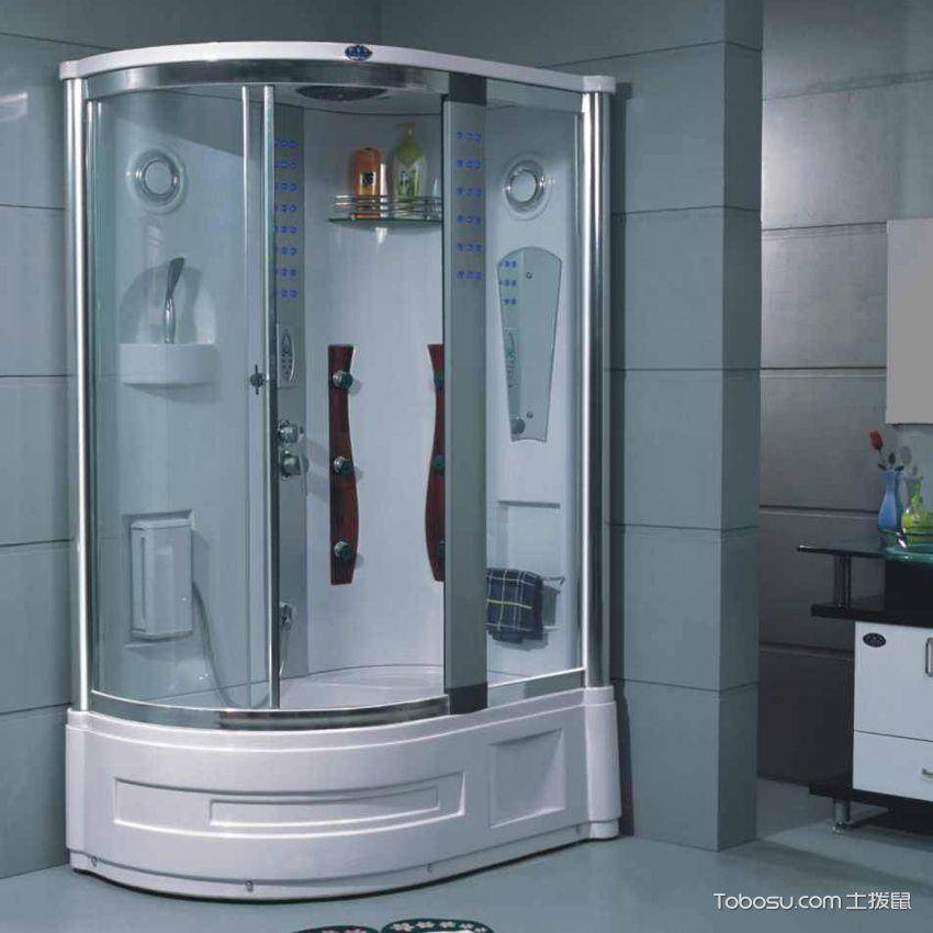 整体淋浴间 弧度