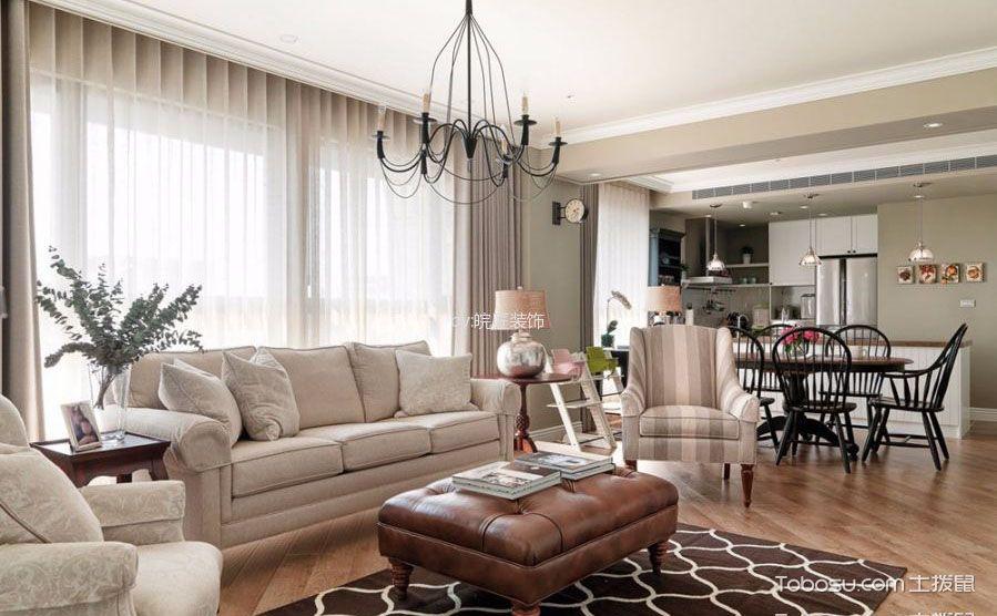 """美式客厅窗帘效果图,让家的""""眼睛""""灿若星辰图片"""