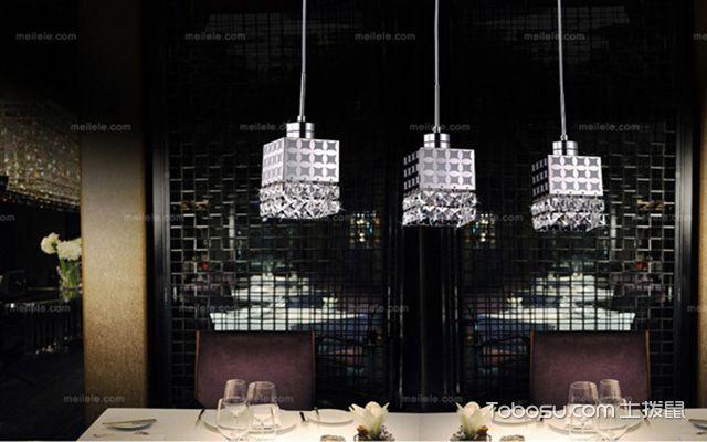 餐桌吊灯安装高度之暗色系